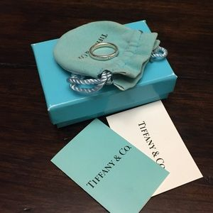 Authentic Tiffany & Co Diamond Band Ring 4.5